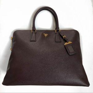 """NEW prada """"Bordeaux"""" tote satchel Saffiano Bag"""